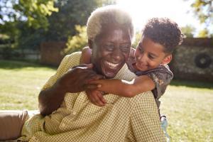 Image of Grandfather and Grandchild