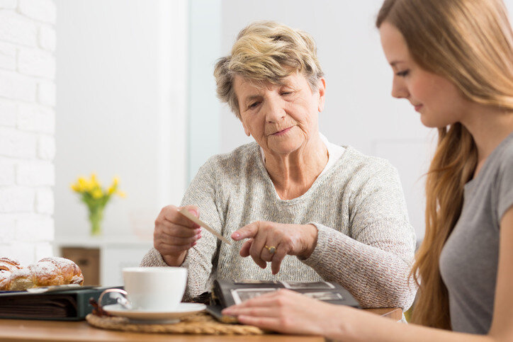 A Daughter and Aging Mother Review Final Expense Planning Together.